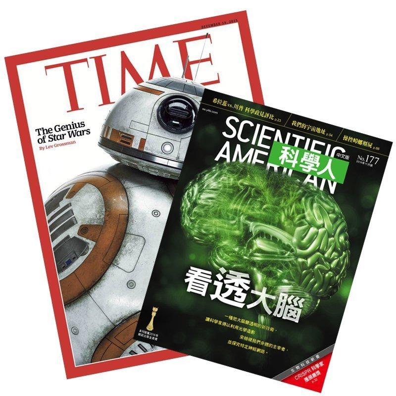 TIME36期+科學人一年(12期) ★送英文精選書1