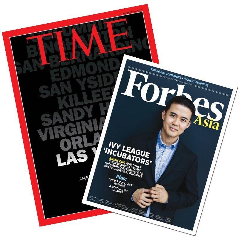 TIME36期(9個月) +Forbes10期 ★送TIME數位版+送英文精裝書1