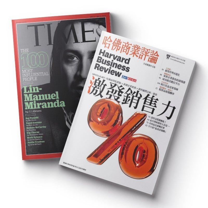 TIME 37期(9個月)+哈佛商業評論中文版12期 ★送TIME數位版+送英文精裝書1