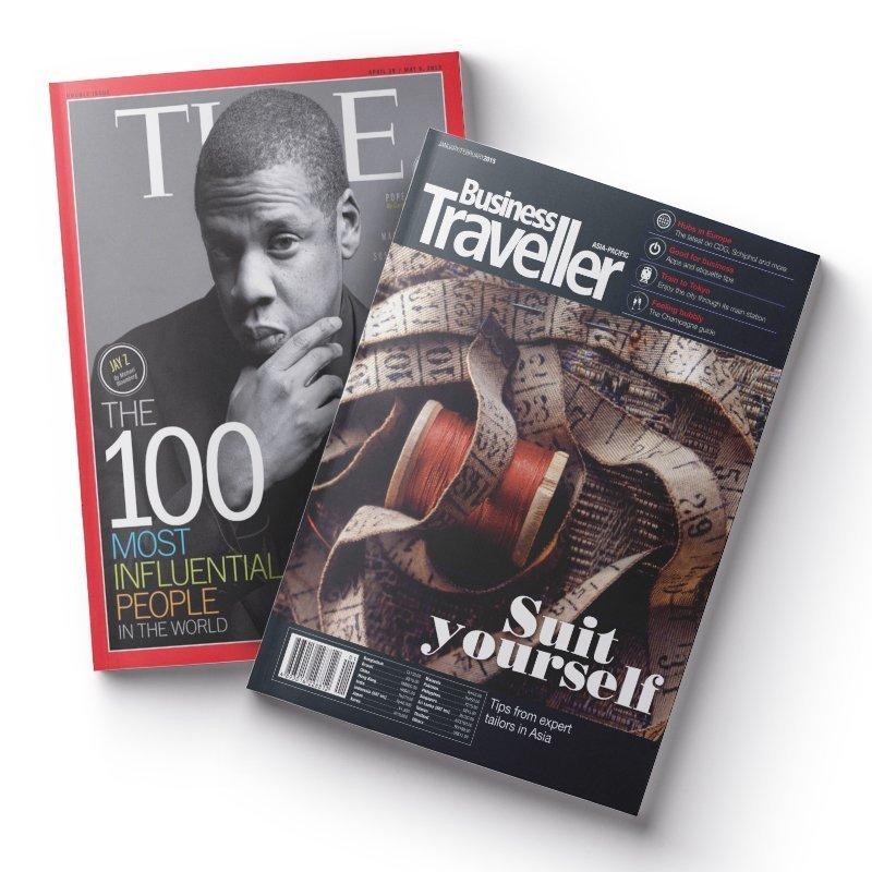 TIME 36期(9個月)+Business Traveller 商旅雜誌(英文版) 10期 ★送TIME數位版+送英文精裝書1