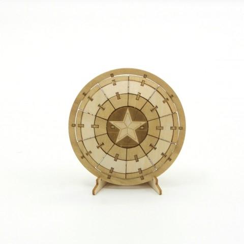 Jigzle  美國隊長-盾牌(95折)★家庭親子活動的首選5
