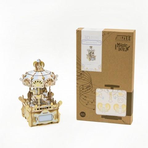 Jigzle  音樂盒旋轉木馬 彩色版(95折)★家庭親子活動的首選6