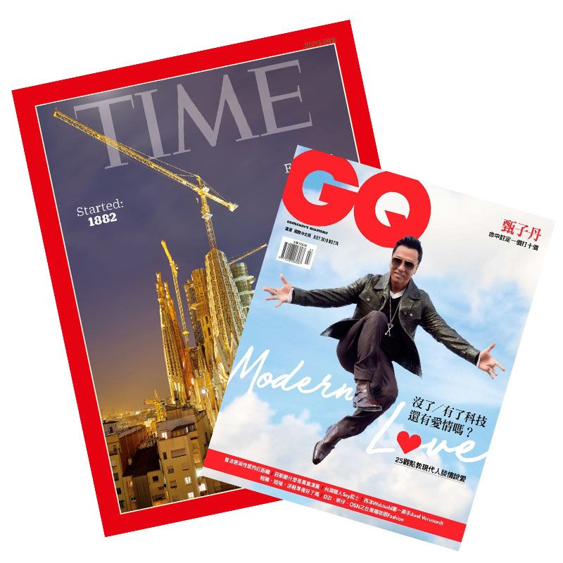 TIME32期(8個月) +GQ國際中文版一年10期 ★送TIME數位版+送英文精裝書 ★再贈GQ雜誌2期1