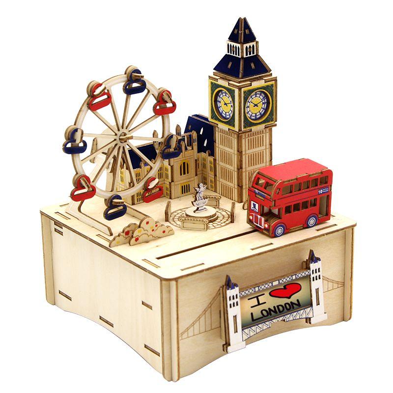 Jigzle  彩色音樂盒倫敦(95折)★家庭親子活動的首選1