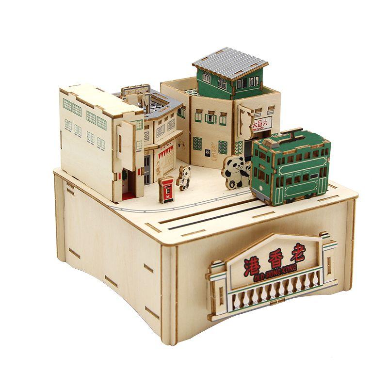 Jigzle  彩色音樂盒老香港舊街小巷(95折)★家庭親子活動的首選1