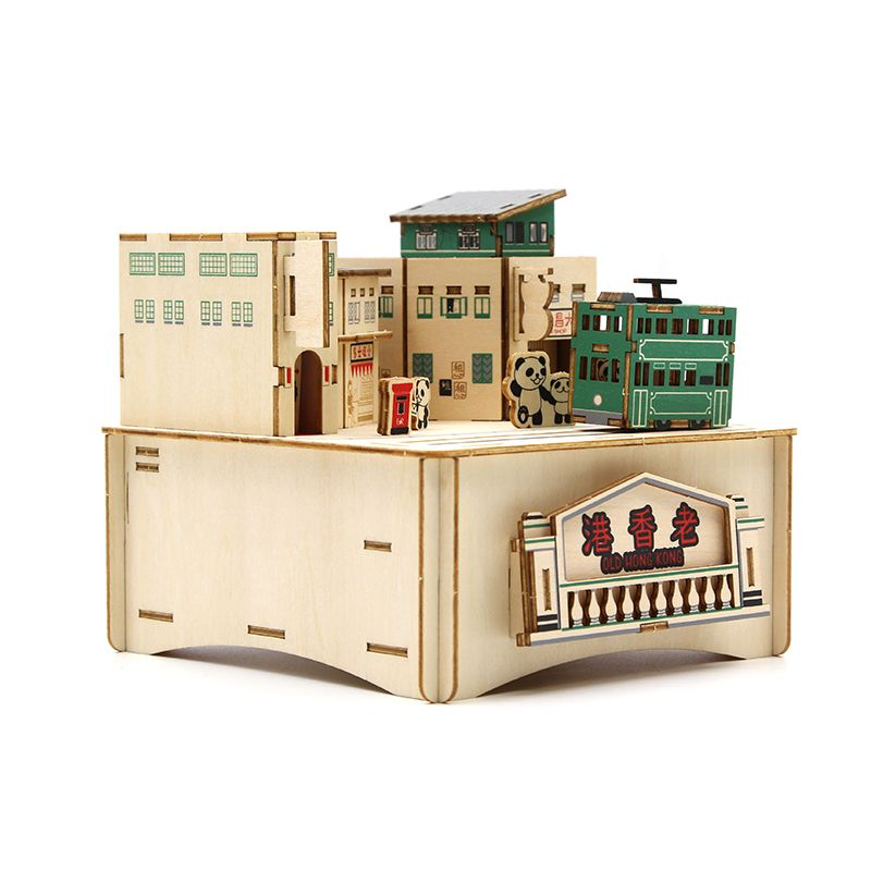 Jigzle  彩色音樂盒老香港舊街小巷(95折)★家庭親子活動的首選2