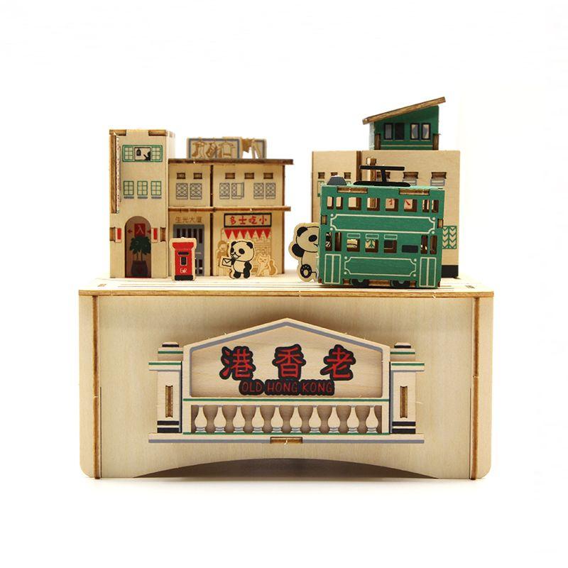 Jigzle  彩色音樂盒老香港舊街小巷(95折)★家庭親子活動的首選3