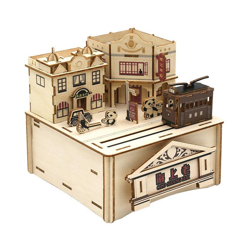 Jigzle  彩色音樂盒老上海(95折)★家庭親子活動的首選1