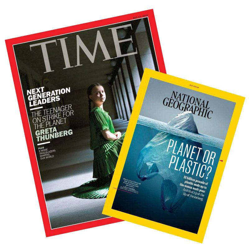 TIME32期(8個月) + National Geographic國家地理雜誌英文版12期 ★送TIME數位版+送英文精裝書1
