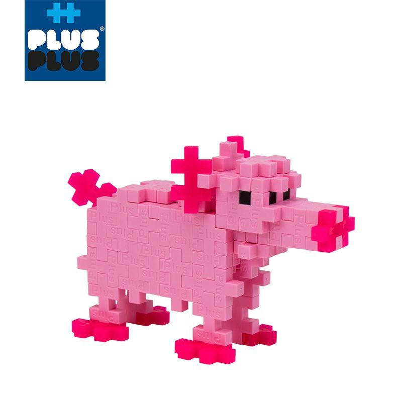 PLUS PLUS 加加積木 100PCS 小豬(95折)1