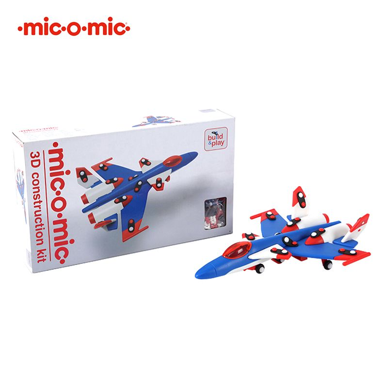 Mic o mic 德國經典工藝玩具- 紅藍戰鬥機(95折)1