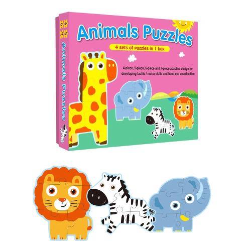 【人類童書】寶寶大拼圖3入組(交通工具/草原動物/可愛動物)(95折)6