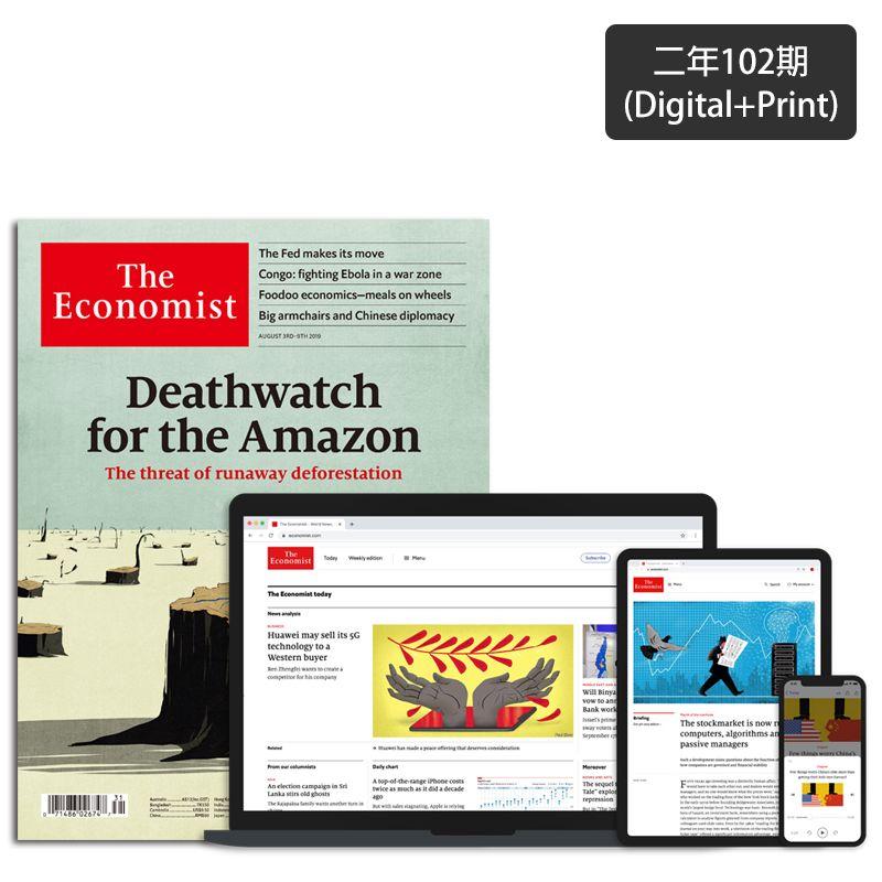 【續訂獨享】The Economist 紙本二年(102期)+【送】數位版1