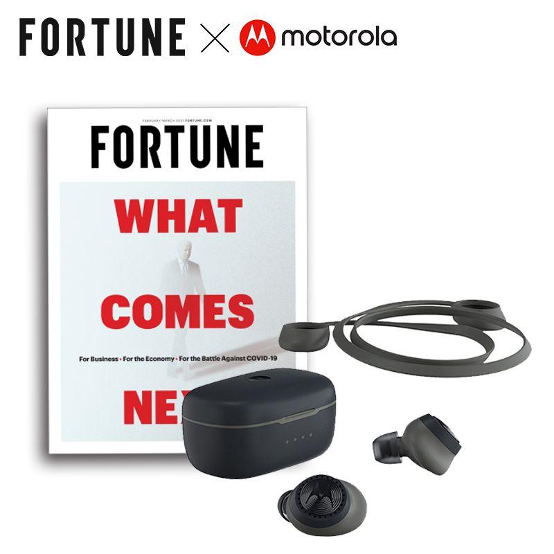 Fortune 財富雜誌 一年12期(6本)+Motorola 運動型真無線藍牙耳機(新贈品)1